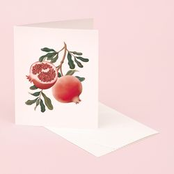 BOTANICAL SCENTED CARD POMEGRANATE