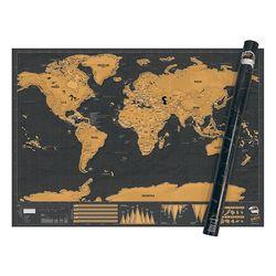 [럭키스] 영국 정품 스크래치 맵 세계지도 디럭스 XL