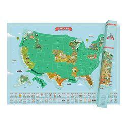 [럭키스] 영국 정품 스크래치 맵 세계지도 미국 랜드마크