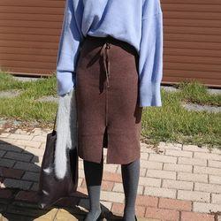 Winter wool skirt