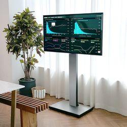 덴켄 비즈니스 이동식 TV 스탠드 보급형 블랙
