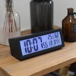 무아스 캘린더 온습도 백라이트 탁상시계