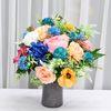 블루팜팜 산소 성묘 꽃 다발 조화 실크플라워