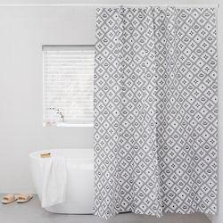 이태리숍 샤워커튼 - 패턴(그레이)