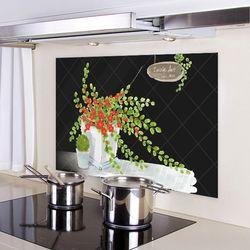 주방안에 키우는 아트보드 FLOWERPOT(black) (90x60cm)