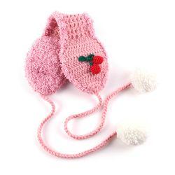 라템 체리 봉봉 니트 귀도리 핑크(AGHA8T03BHPW)