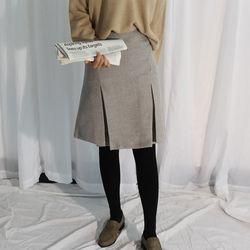 Wool slit skirt울50