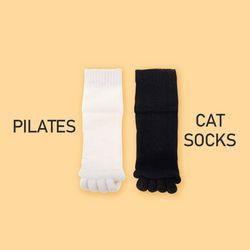 필라테스 고양이양말 1set(색상랜덤)