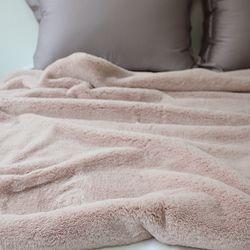 소프트 fur 블랭킷 pink - 85x140cm