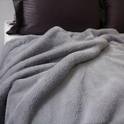 소프트 fur 블랭킷 gray- 85x140cm