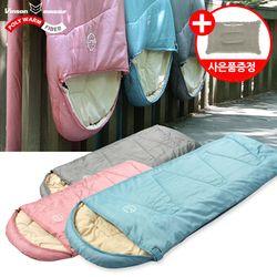 파스텔 침낭(머미형)-감성 캠핑 사계절 디자인침낭