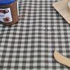 베이직 컨츄리체크 방수식탁보(브라운-10인310cm)