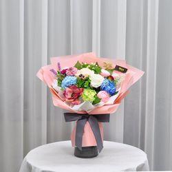 아네모네핑크 -조화 꽃다발 졸업식 재롱잔치 사탕 부케