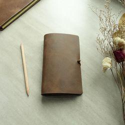 천연가죽 다이어리 Diary Binder Simple B6 [MarsBrown]