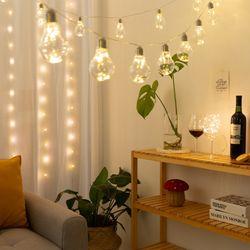 LED 에디슨전구 10구 (건전지형)
