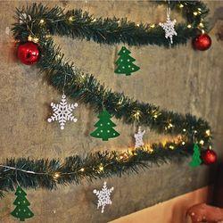 노스아일랜드 크리스마스 장식 눈꽃트리 가랜드