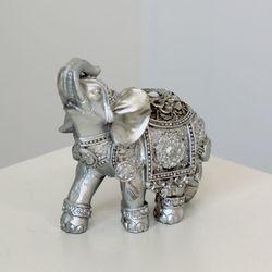 (kcrz015) 엔틱실버 코끼리장식 (소)
