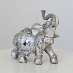 (kcrz016) 엔틱실버 코끼리장식 (중)