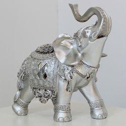 (kcrz017) 엔틱실버 코끼리장식 (대)