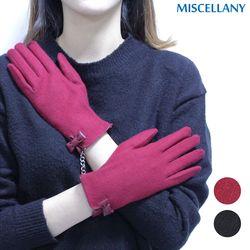 여성용 모장갑 심플 리본 파이핑 모장갑선물용 장갑