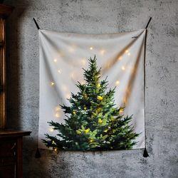 패브릭 크리스마스 트리.가리개커튼 (행잉M 사이즈)