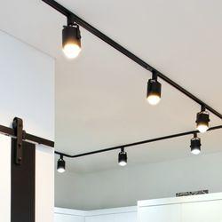 뉴 원통 스포트 3등 레일형 세트 (LED겸용카페조명포인트조명)