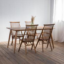 렌토 원목 테이블 1600 세트(의자4)