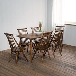 렌토 원목 테이블 1600 세트(의자6)