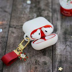 에어팟 철가루 방지 스티커 크리스마스 세트 A-반투명
