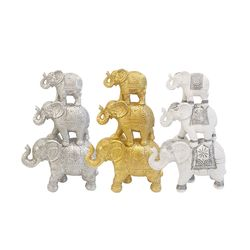 재물을 부르는 엔틱 코끼리 (3color)