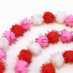 반짝이뿅뿅이 15mm 핑크 3color (deco p 032)