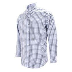 블루 클래식 체크 레귤러 긴팔 셔츠RF1146