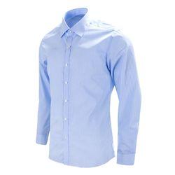 블루 모던 스트라이프 슬림 긴팔 셔츠RF1018