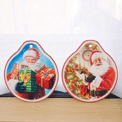 도자기 산타 원형 냄비받침 (2style)