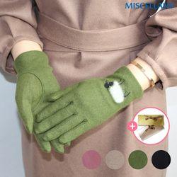 여성 겨울장갑 양무늬 자수 모장갑 4color