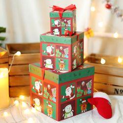 크리스마스 3단 선물상자 (큐티프렌즈)