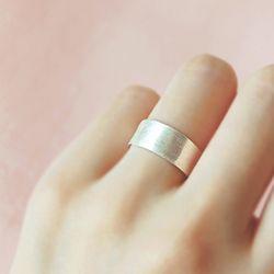 은빛 안개 Flat Basic Silver Ring (FREE SIZE)