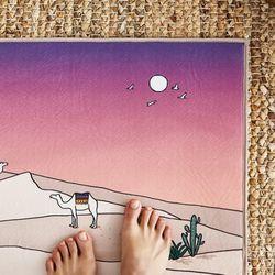 모로코 핑크 극세사 발매트(45x65)