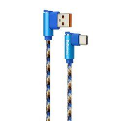 직각형 USB 충전 케이블 Type C 단자 1M(블루)(10115)