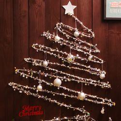 크리스마스 와이어 벽트리 세트 (실버)
