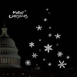 1AM 크리스마스 눈꽃 스티커 특수지 리무버블