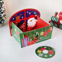 B04 양면산타트레이(소) 2세트  크리스마스 성탄