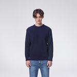 Modern round knit (Navy)