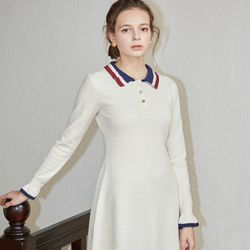 COLLAR KNIT ONEPIECE(IVORY)