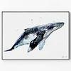 메탈 동물 인테리어 그림 포스터 감성 액자 고래 [대형]