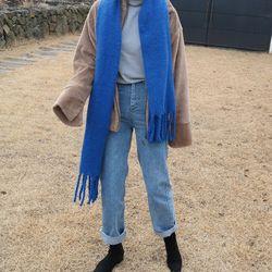 Wool mohair muffler(울15)