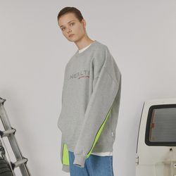 Sleeve point sweatshirt -gray