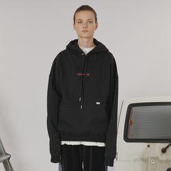 Patch logo hoodie -black