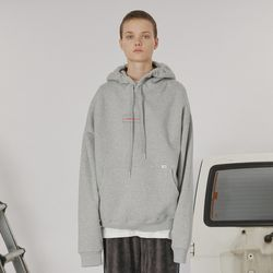 Patch logo hoodie -gray