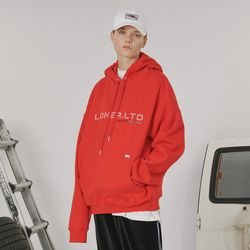 Outline logo hoodie -red